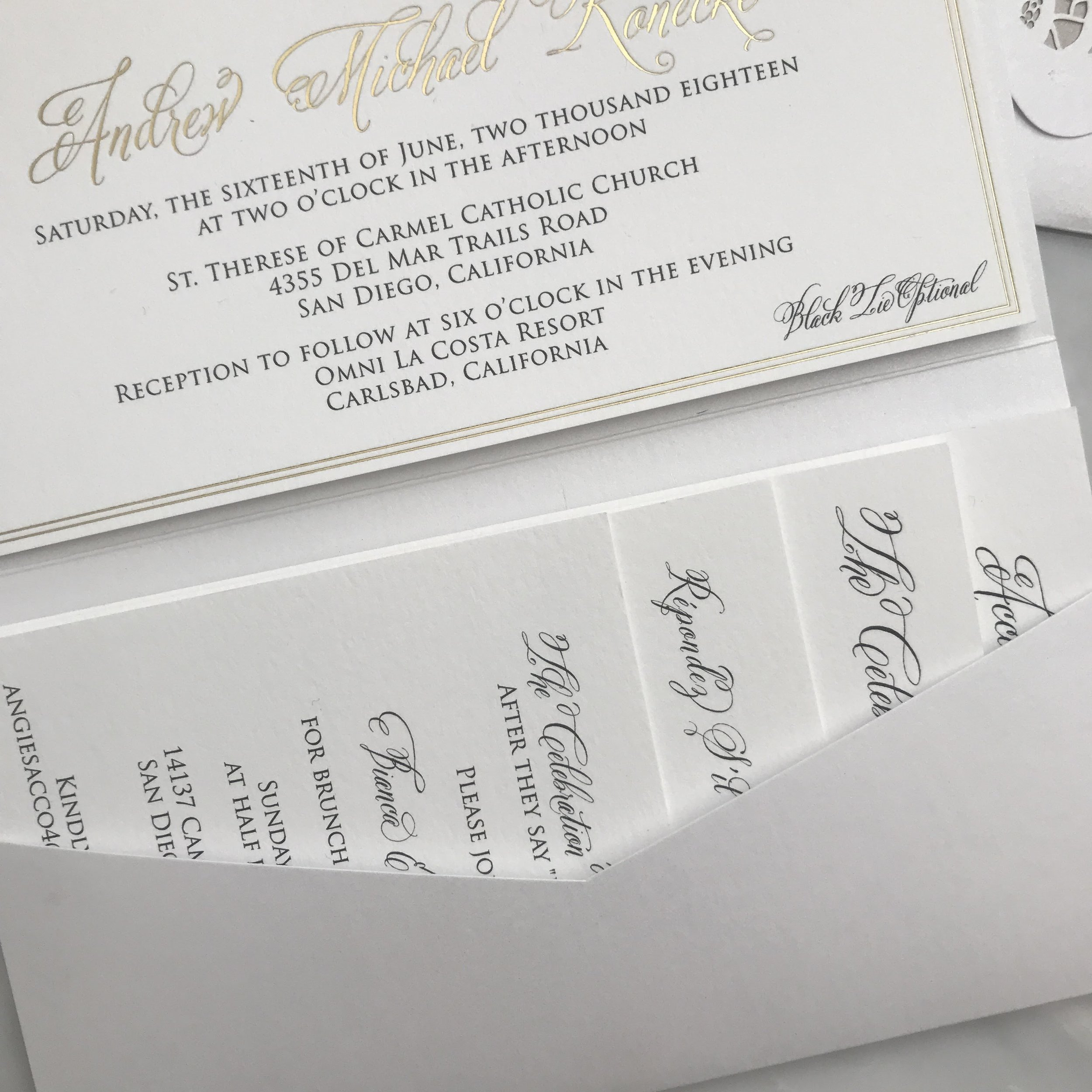 All About Wedding Details Cards + Wedding Insert Cards — Design by Laney |  Invitations and Calligraphy