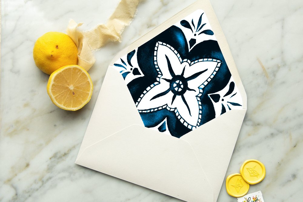 spanish tile envelope liner