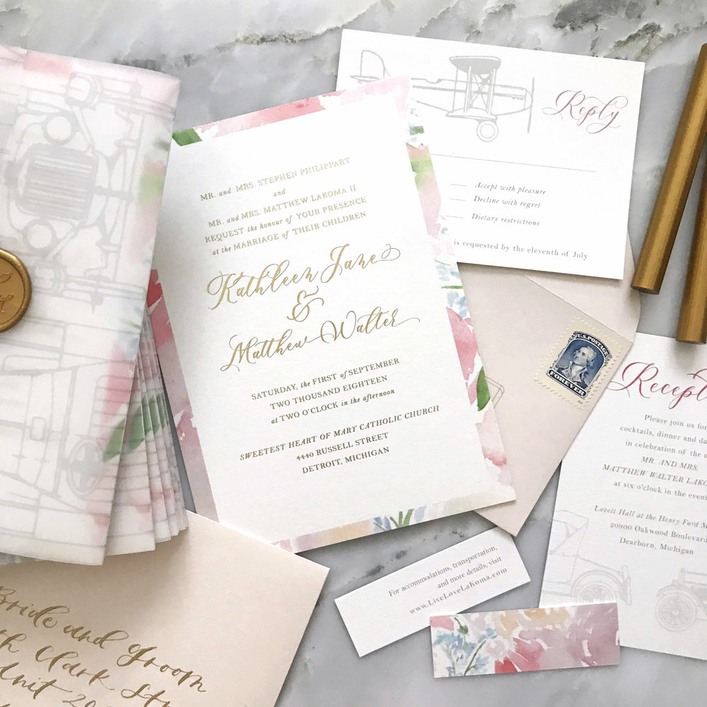 how to design an invitation suite