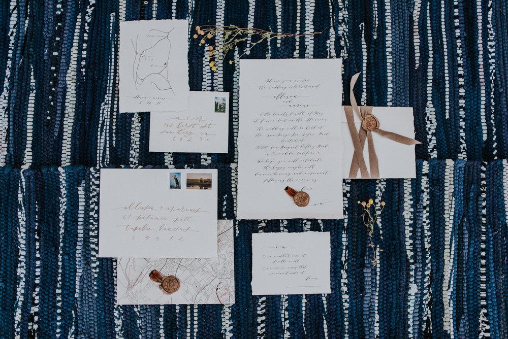 glamping wedding invites