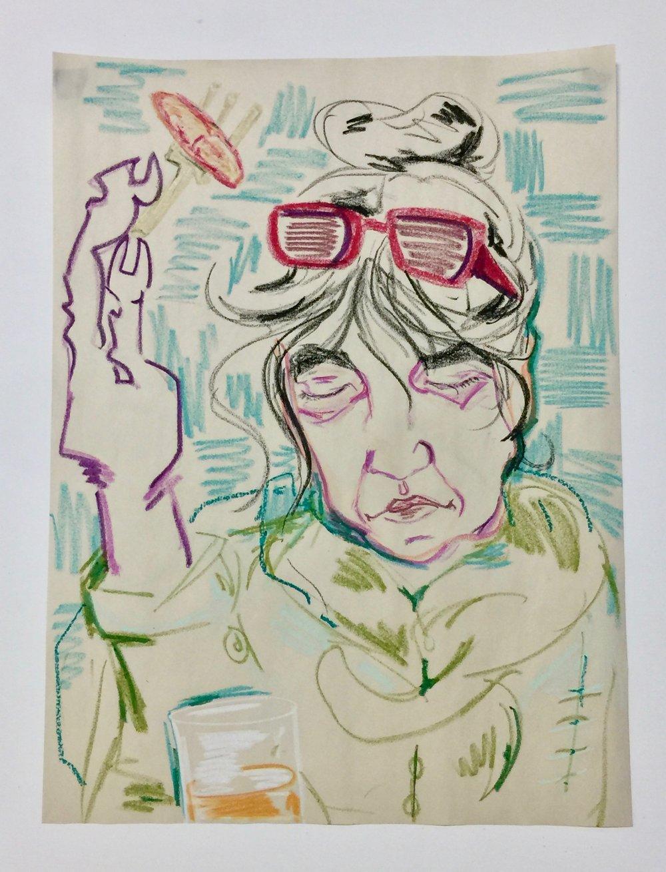 Artist Mother at breakfast, Hotel D'Orsay