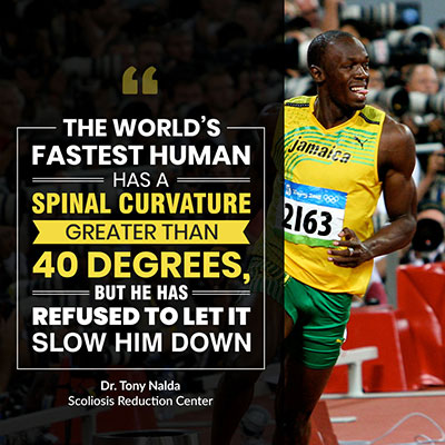 The world's fastest human has a spinal curvature