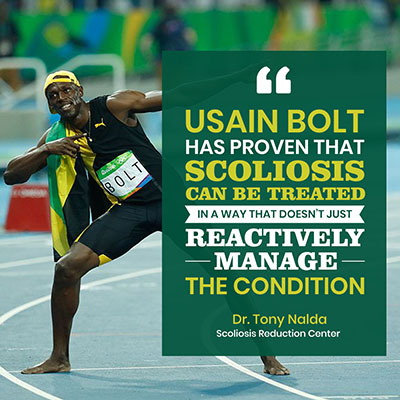Usain Bolt has proven that scoliosis can be treated