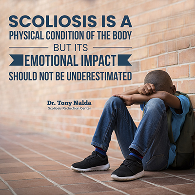 Scoliosis is a physical condition of the body, but its emotional impact should not be underestimated