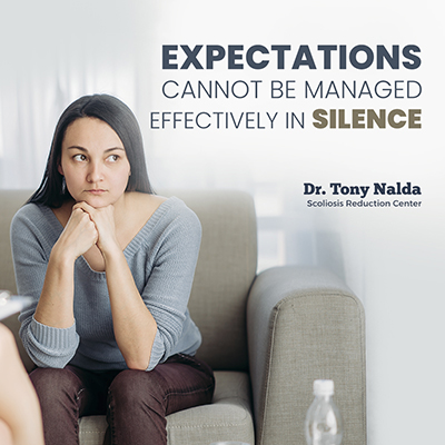 Expectations cannot be managed effectively in silence