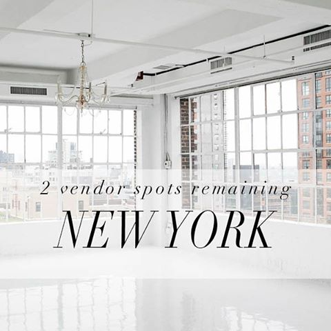 We have 2 spots left for our New York Wedding fair on October 16th at Studio 450, tickets are on sale and we are very excited to meet all our ticket holders! Please email renee@onefinecollective.com for more information.