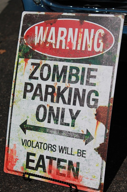 Zombie Sign Creating Content