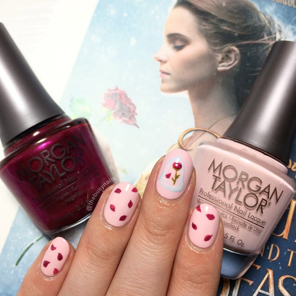 Morgan Taylor Beauty And The Beast Nail Art The Busy Nails
