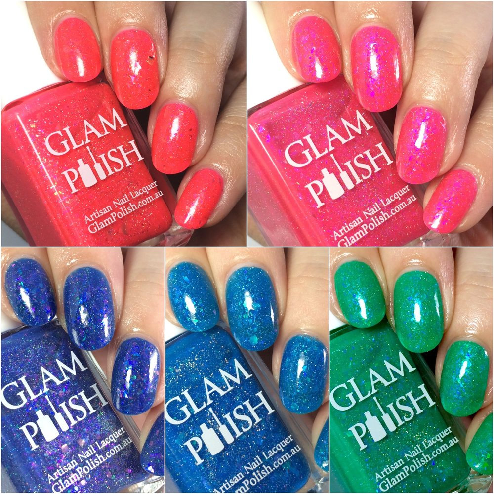 5 out of 10 polishes from the Glam Polish Mermaid at Heart collection