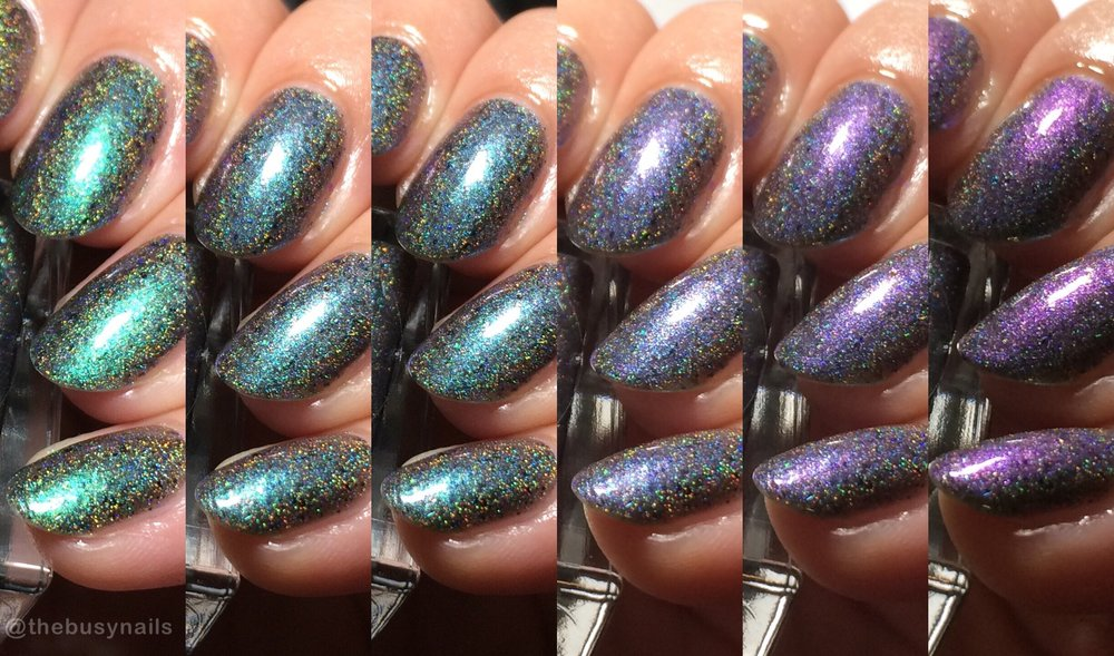 "Night Owl Lacquer ""Banshee Scream"" - Just look at all those shifts!"