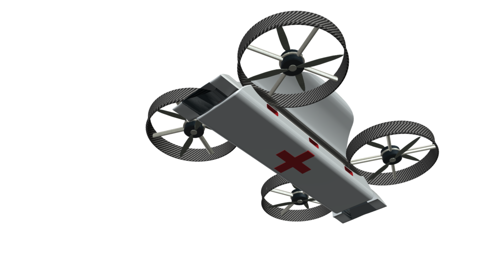 Drone Medivac in Flight