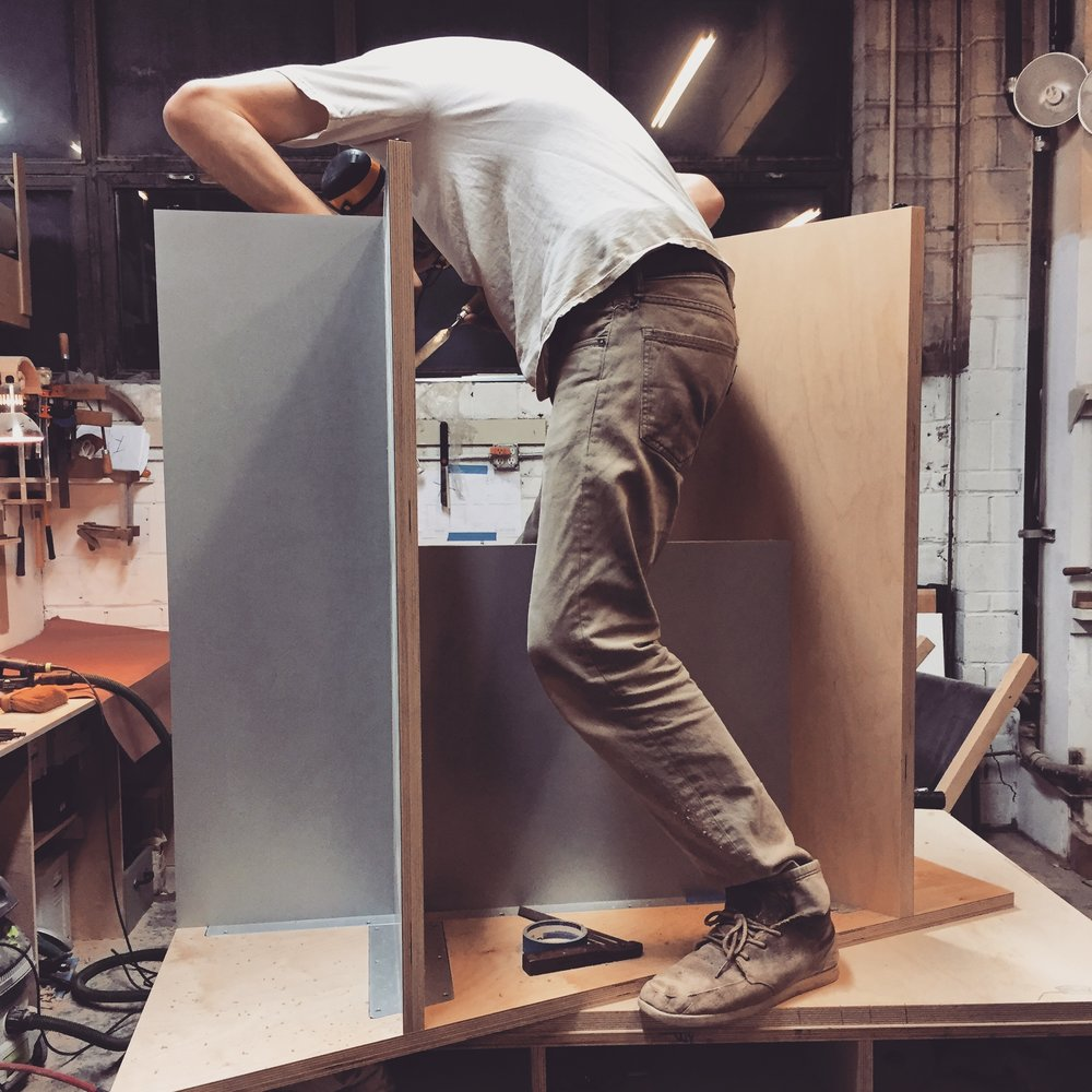 Whaleyard Furniture Fabrication Mack Weldon Stand Up Modular Desks Brooklyn Made Custom