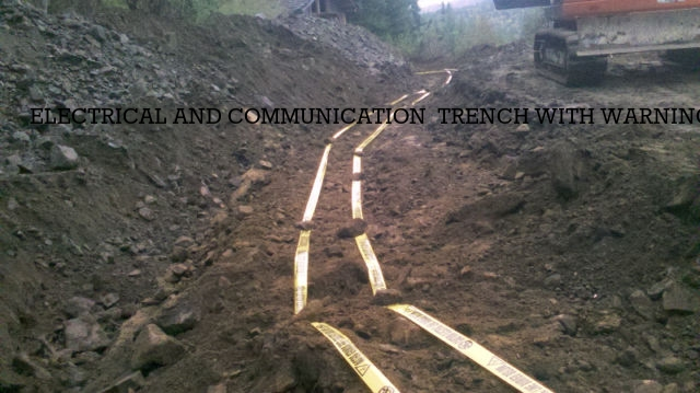 ELECTRICAL AND COMMUNICATIONS TRENCH WITH WARNING TAPE
