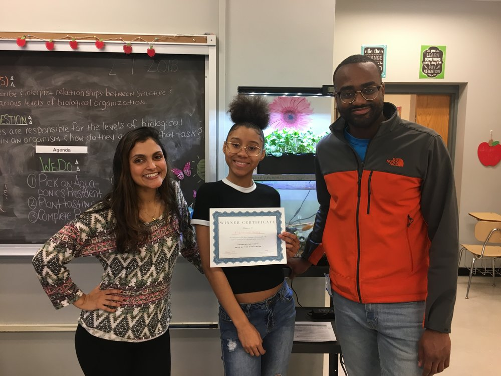 February 2018   First harvest of the school year -- students win gift cards to   Social Status   shoes -- visit from   Chatham  's own Dr. Tyra Good -- Chef Claudy woos   LEVEL Office   with impromptu cooking lesson-- TDC students try out dissection labs for the first time -- meet the   TDC team  --  updates on our 2018 Happy Hour    Read full newsletter