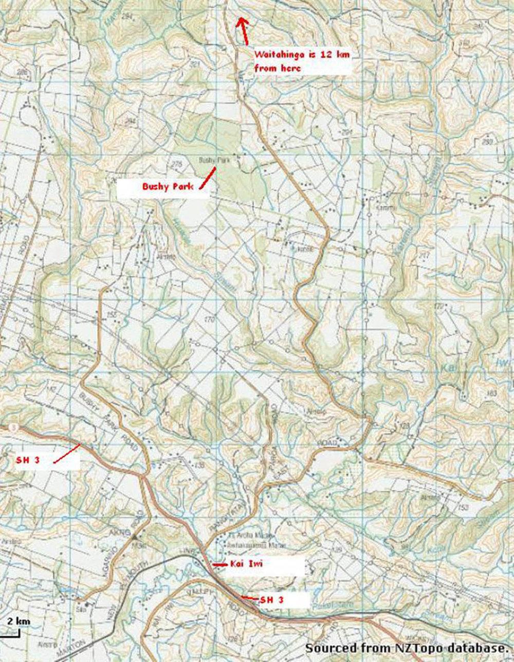 waitahinga main Road Map