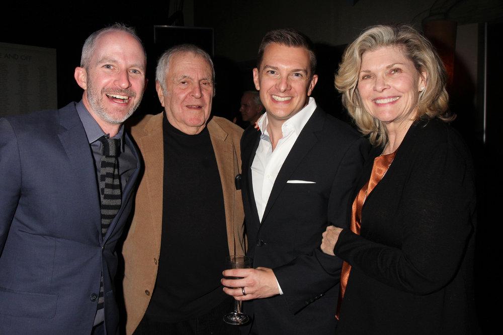 Two excited guys meeting John Kander & Debra Monk