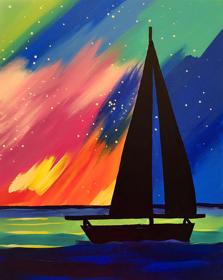 Northern Lights Sail Boat 2 Hours