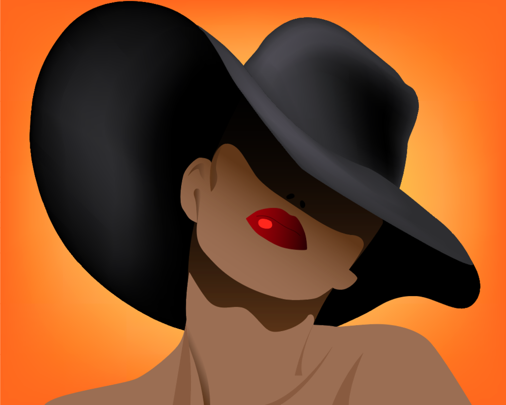Sexy lady in a hat-2.png