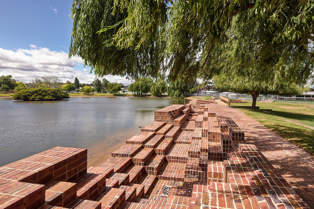 Stawell Steps - Red Blue bricks