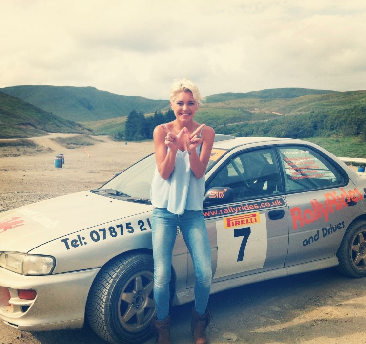 Beating the boys at rally driving for 'Car and country' in Wales