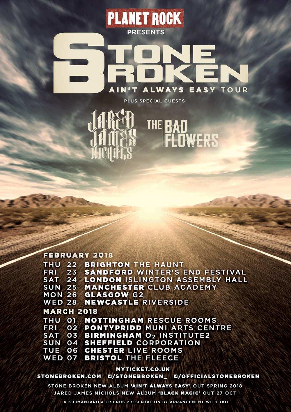 Stone Broken Tours Dates 2018 UK