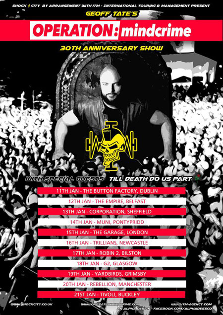 Geoff Tate Operation:Mindcrime at Rebeelion in Manchester on January 201th 2018.