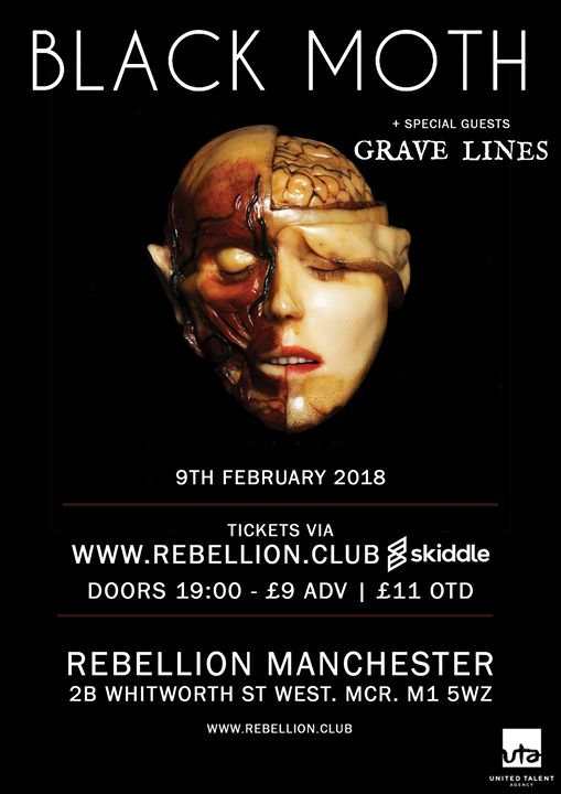 Black Moth + Grave Lines at Rebellion in Manchester on February 9th 2018.