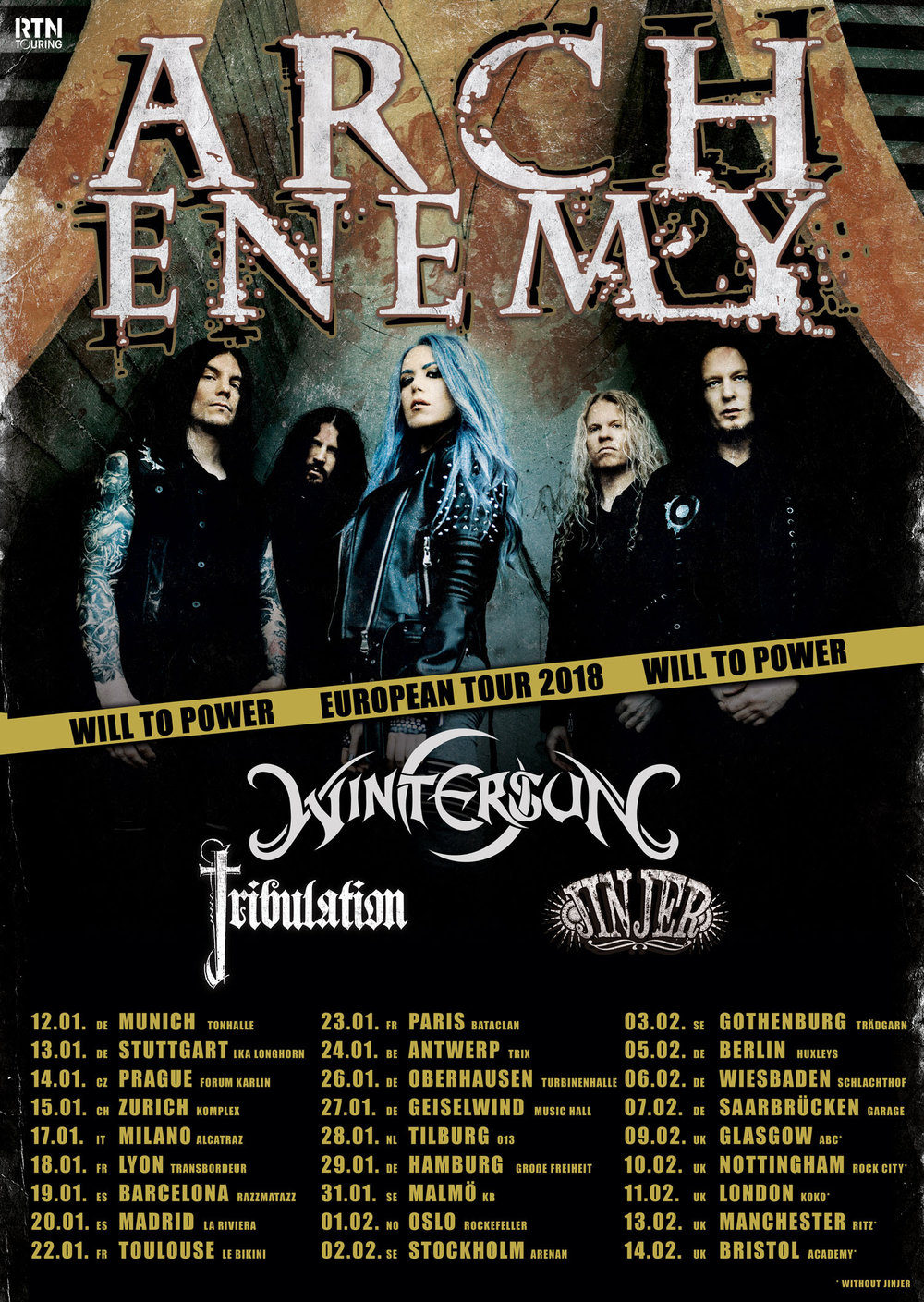 Arch Enemy 2018 Tour Dates