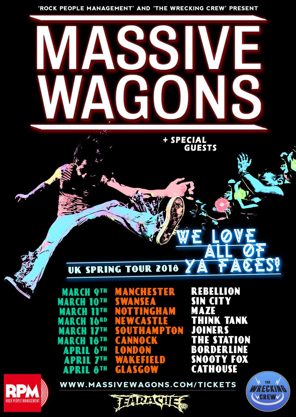 Massive Wagons 2018 Tour Dates