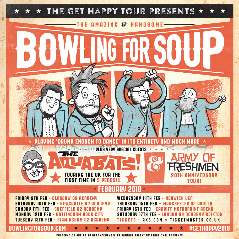 Bowling For Soup UK Tour Dates 2018.
