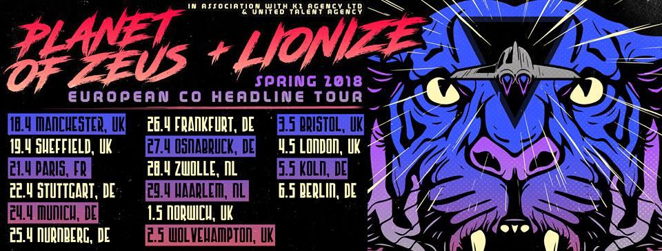 Planet Of Zeus + Lionize European co-headline tour 2018.