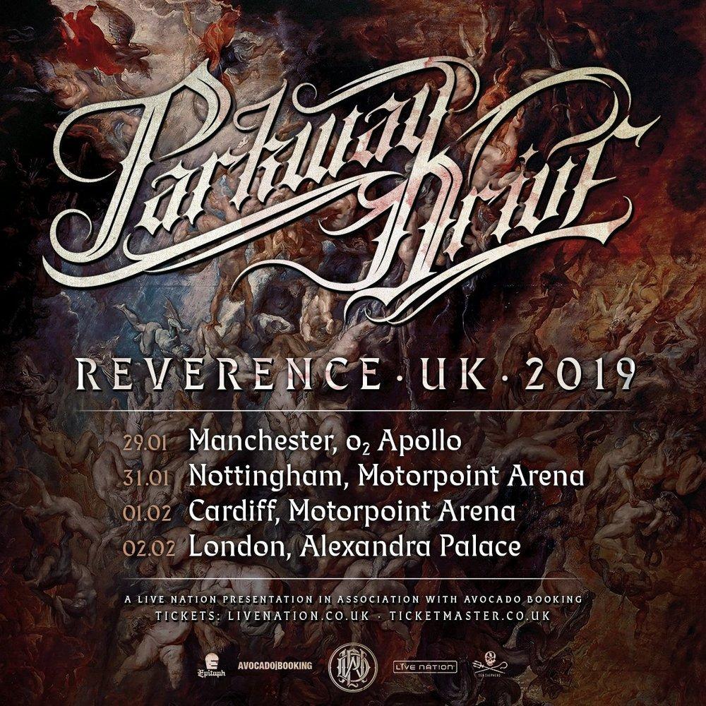 Parkway Drive Tour Dates Poster 2019