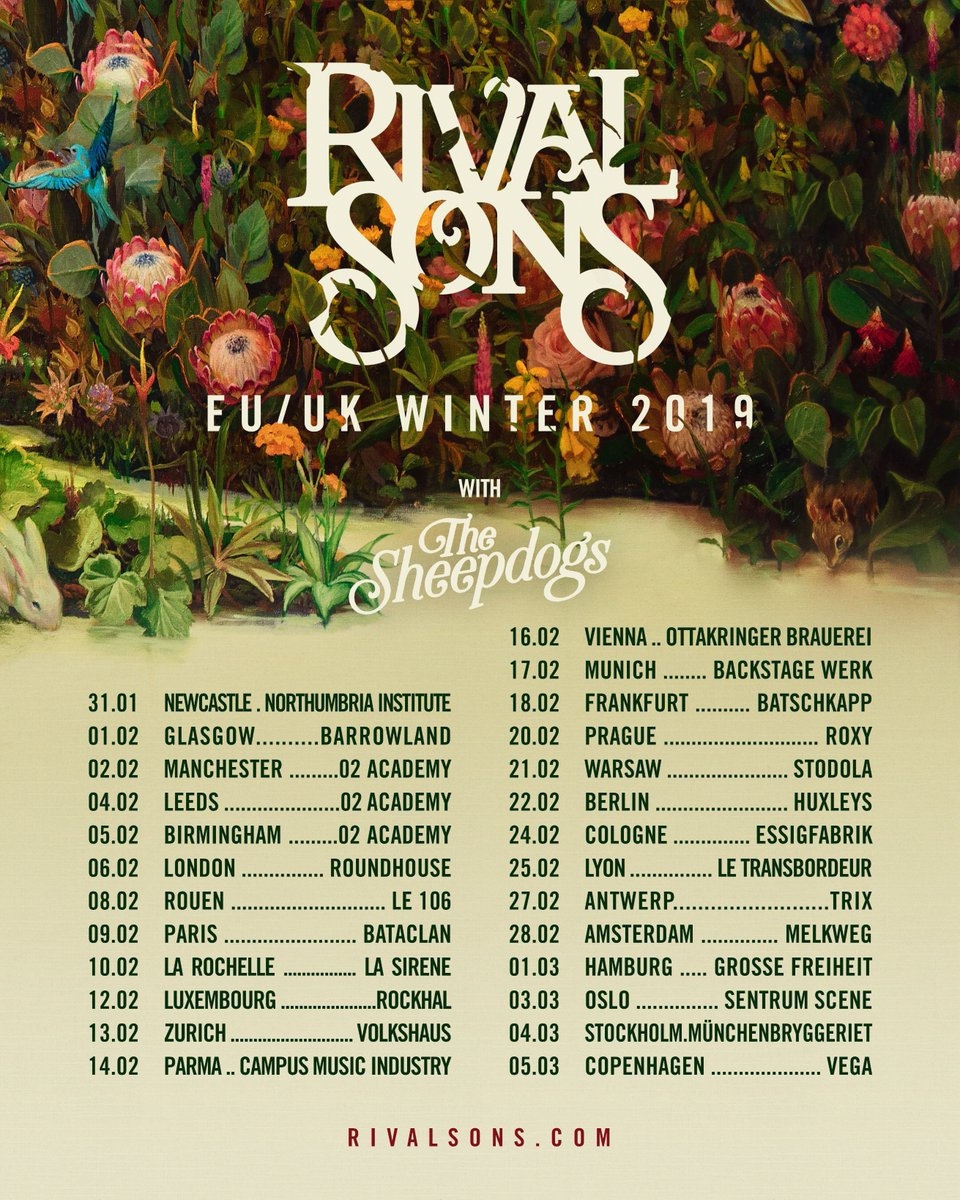 Rival Sons 2019 Tour Dates UK Europe Poster