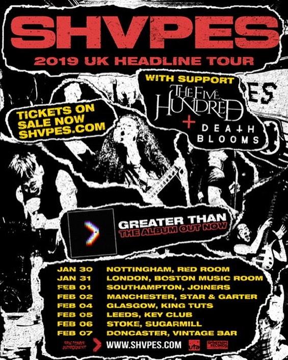 SHVPES 2019 Tour Dates Poster