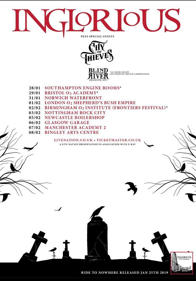 Inglorious Tour Dates 2019 Poster