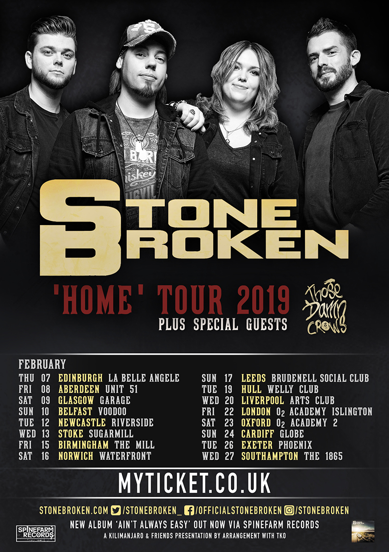 Stone Broken Tour Dates Poster 2019
