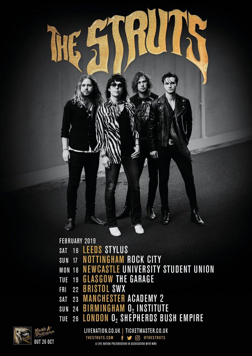The Struts 2019 tour dates