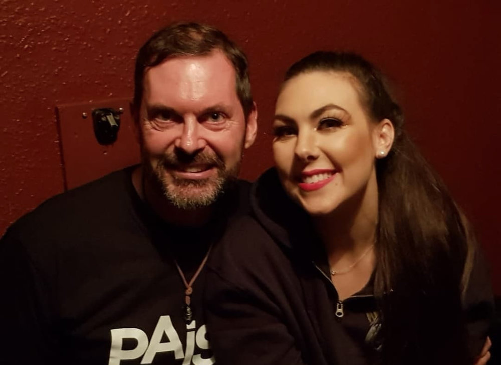 Mark Walsh and Elize of Amaranthe