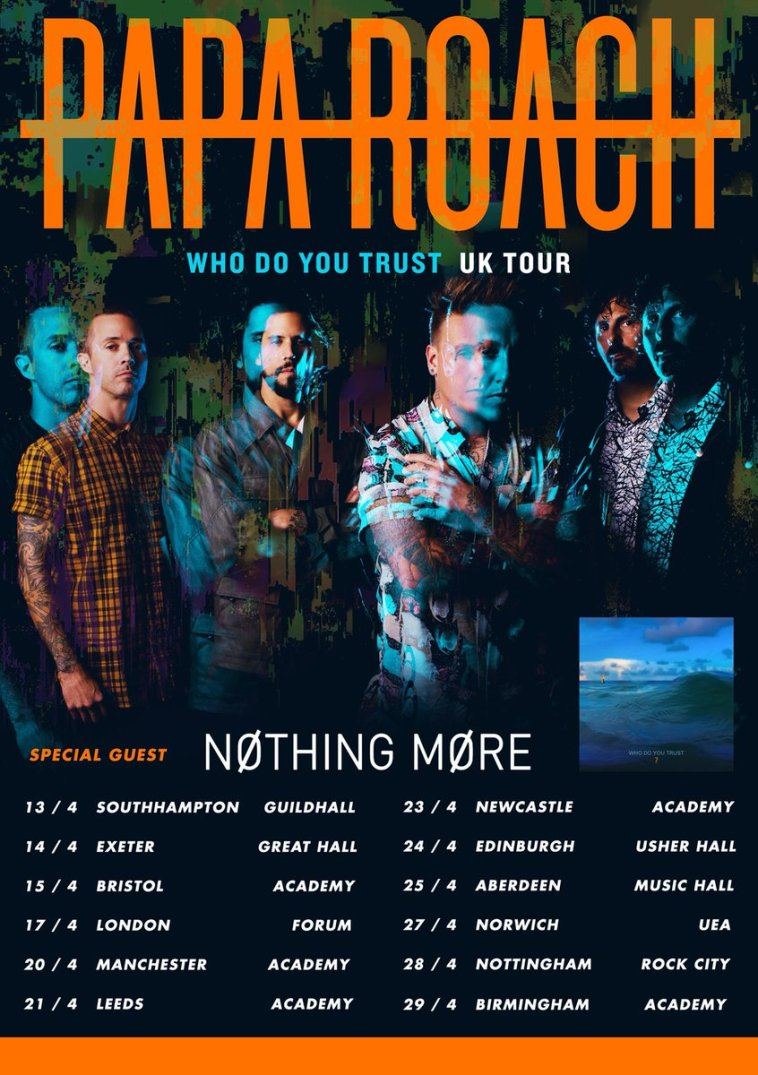 papa-roach-announce-2019-uk-headline-tour
