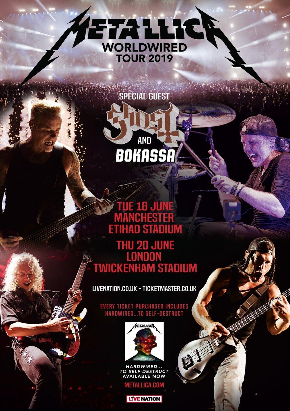 Metallica at the Etihad Stadium, Manchester on June 18th 2019 Poster