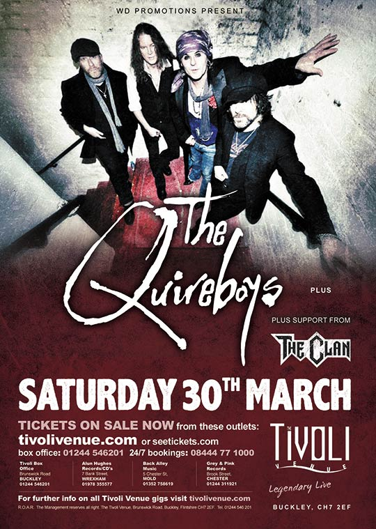 The Quireboys at The Tivoli in Buckley on March 30th 2019