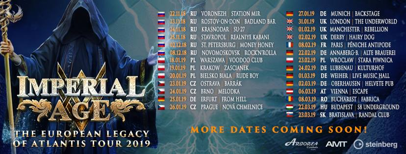 Imperial Age 2019 Tour Dates