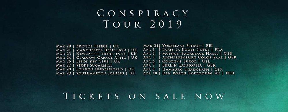 The Raven Age Tour Dates 2019 Poster