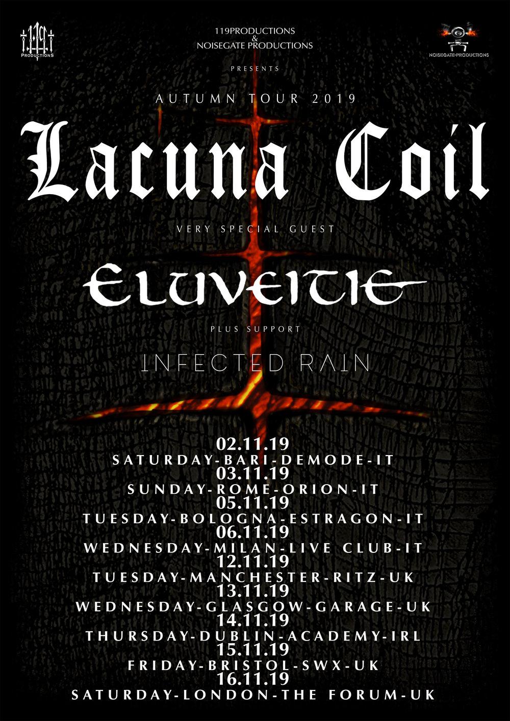Lacuna Coil 2019 Tour Dates