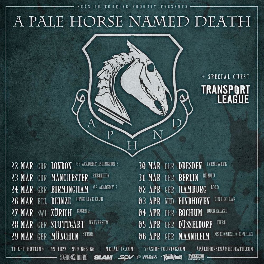 A Pale Horse Named Death tour Dates 2019 Poster