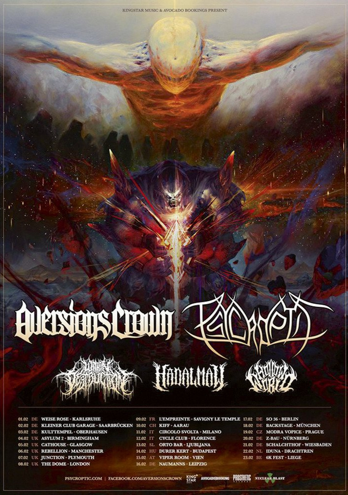 Aversions Crown 2019 tour Dates Poster