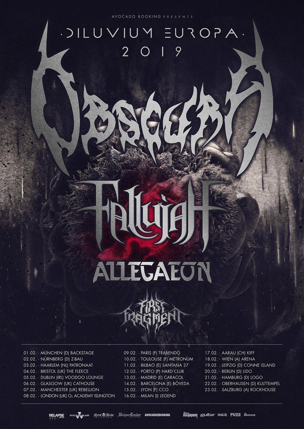 Obscura Tour Dates 2019 Poster