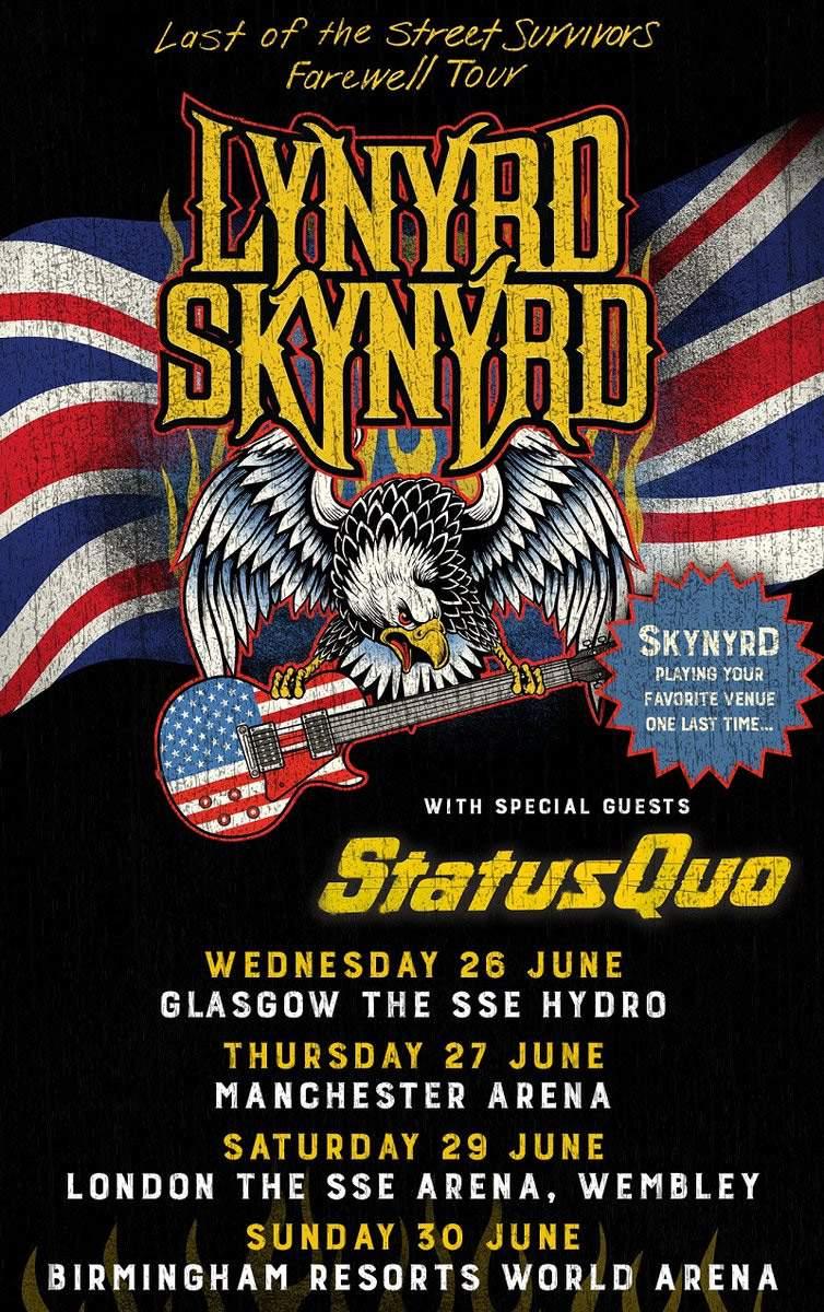 Lynyrd Skynyrd 2019 Tour Dates UK