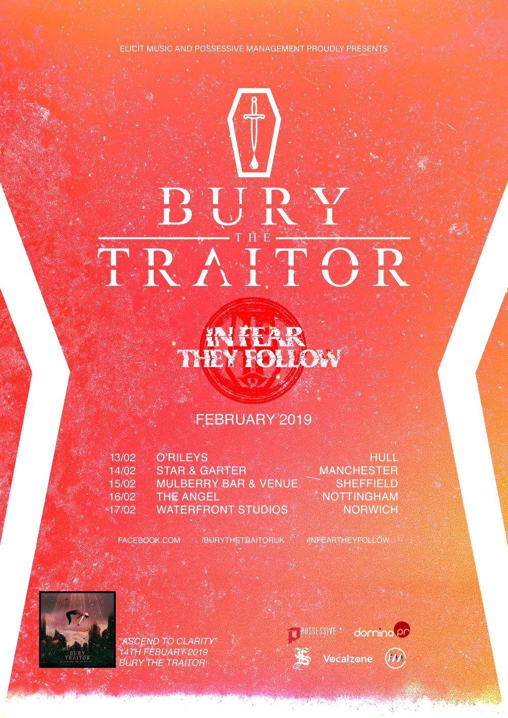 Bury The Traitor Star and Garter UK tour Dates 2019