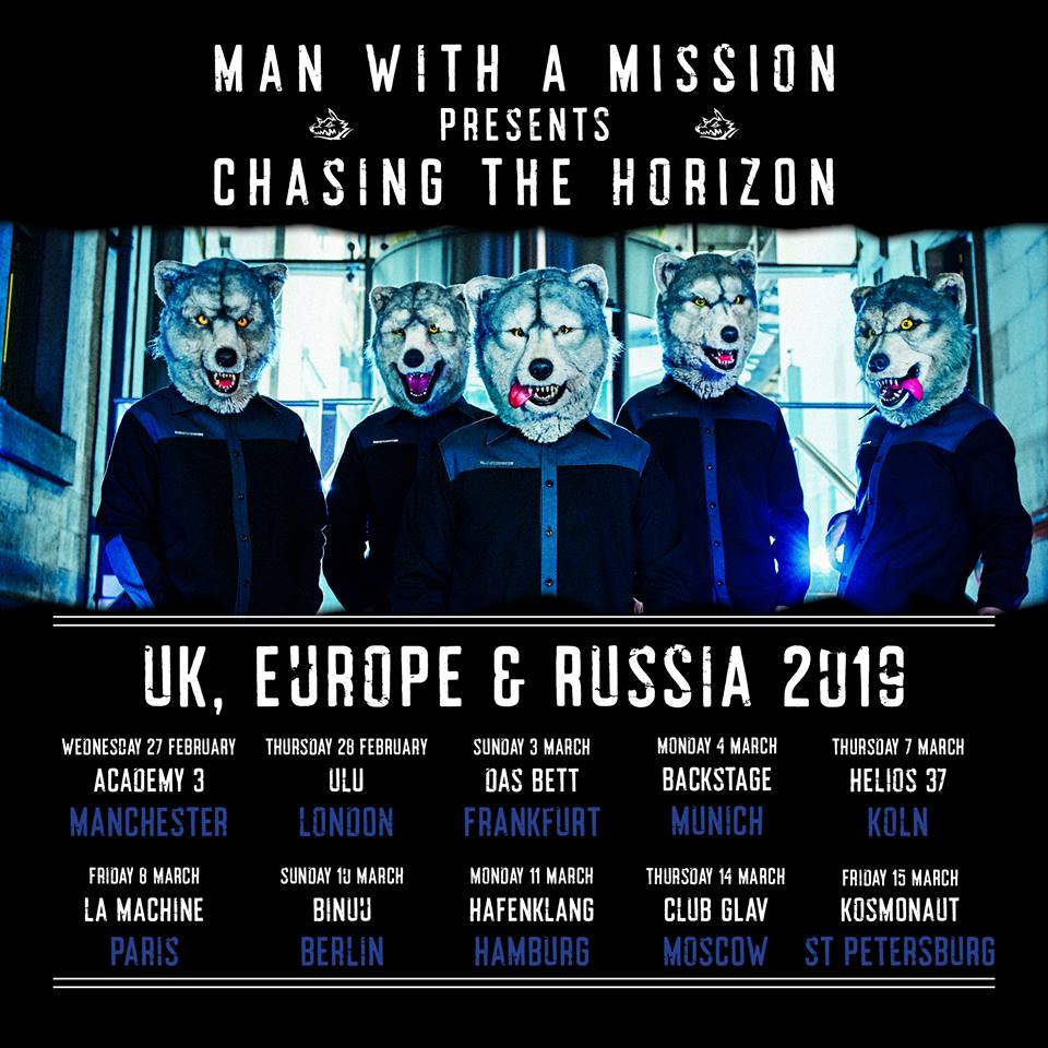 Man With A Mission Tour Dates UK 2019 Poster